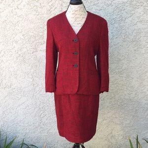 Jones New York Red Black Business Career Suit Set